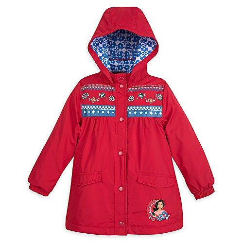 Disney Elena Of Avalor Rain Jacket - Girls Size 5/6 Dragon Thermal Jacket