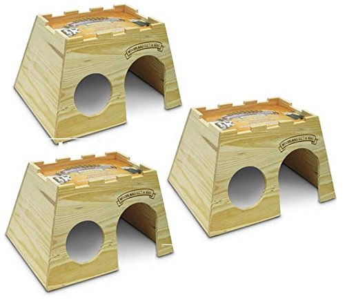 (Super Pet Woodland Get-A-Way Extra-Large Rabbit House (3 Pack))