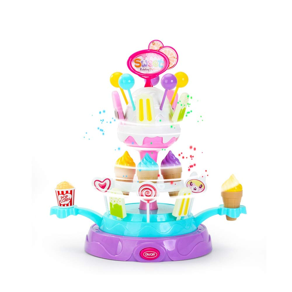 Pkjskh redating Candy Plate 25 Pieces Accessories redating colorful Lights Wonderful Music Toys Boys Girls Simulation Ice Cream Cake Personality Princess Birthday Gift