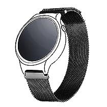 Bandmax 18MM Milanaise Uhrenarmband Ersatzarmband mit Magnetverschluss Gold Plattiert Edelstahl Wrist Armband für Huawei Watch 2/Fit