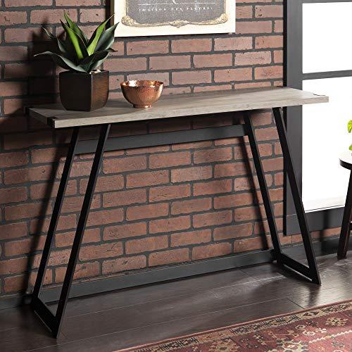 (WE Furniture AZF46MWETGW Entryway Table, 46