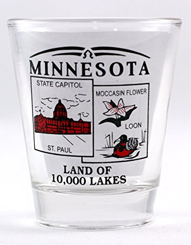 Minnesota State Scenery Red New Shot Glass