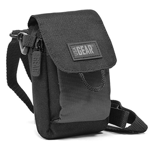 USA Gear Laser Rangefinder Case Holster with Shoulder Strap & Belt Loop - Fits Nikon 8397 ACULON AL11, TecTecTec VPRO500, 16228 Arrow ID 5000, Coolshot 20, Prostaff 7i, Monarch 7I, and More