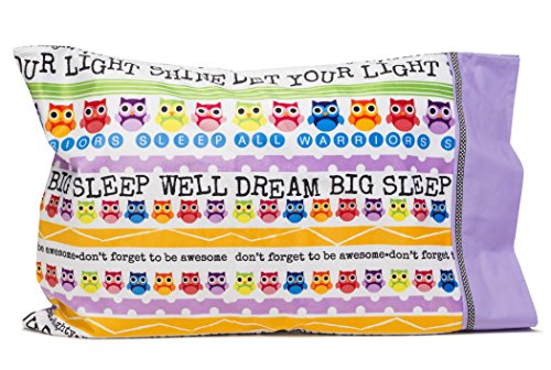 (Slumber Party Supplies - Owl Pillowcase - Personalize your LET YOUR LIGHT SHINE Pillowcase - Cool gifts for kids and teens - Super cute pillowcases - Christian gifts for kids.)