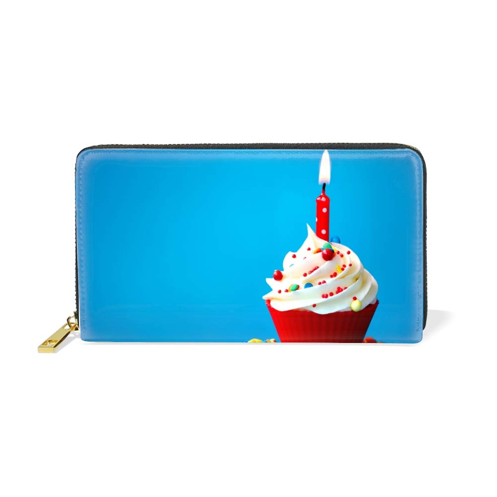 Womens Large Capacity Long Wallet Card Holder Fashion Cute Fruit Pattern Clutch Handbag