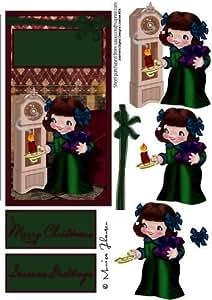 Vintage de chica christmaseve por Monica Johansen
