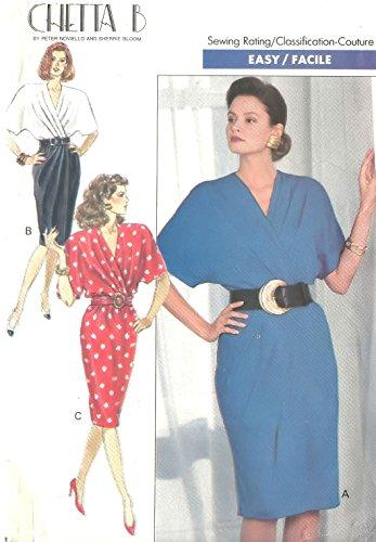 Butterick Chetta B vintage 1980s sewing pattern 3803 mod dress - Size 8-10-12