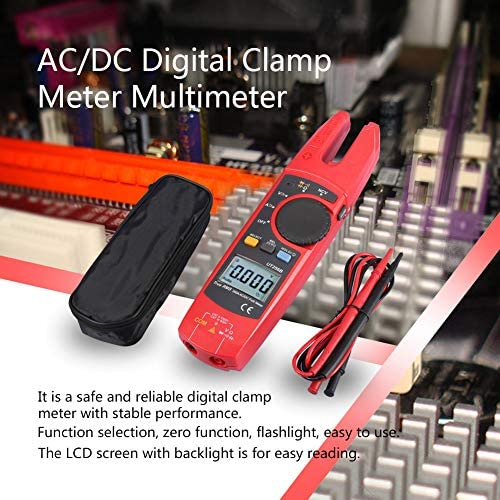 Wacent Multimeter, Durable Accurate Meter LCD Display AC/DC Voltage Current Digital Clamp Meter Multimeter 200A