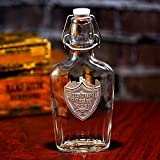 YOUR LOGO carved on our Whiskey and Bourbon Flask
