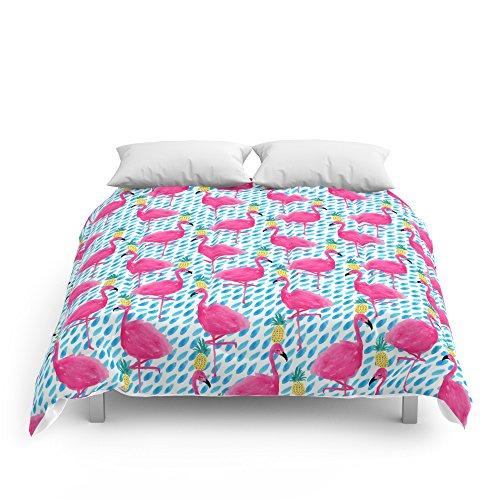 "Society6 Party Flamingos Comforters Full: 79"" x 79"""