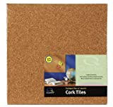 : 4PK 12x12 LT Cork Tile 1 pounds (PACK)