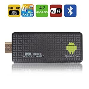 Amazon Com Hossen Mk809iii Rk3188 Quad Core Cortex A9 4 2 2 Android Mini Google Tv Player Stick