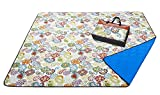 YAPA Picnic Blanket - Water-Resistant Outdoor Blanket -Extra Large 80x80, Oversized Beach Mat for Travel or Camping Machine Washable