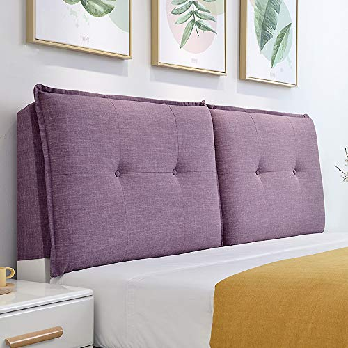- Double Bedside Soft Cushion Removable and Washable Fabric Hood Sofa Bed backrest Removable Tatami Reading Lumbar Pillow