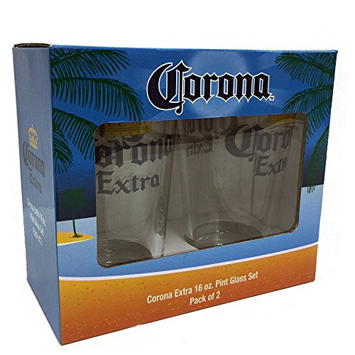 corona-extra-pint-glass-set-2-pack-clear