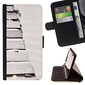 For Samsung Galaxy S3 III i9300 i747 Case , Arena Surf Mar Verano minimalista Path- la tarjeta de Crédito Slots PU Funda de cuero Monedero caso cubierta de piel
