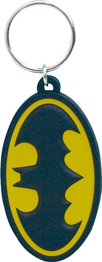 DC Comics Batman Logo Cut Laser Llavero de goma: Amazon.es ...