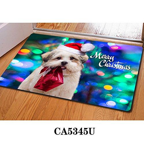 - HUGS IDEA Kawaii Pet Puppy Doormat Front Entrance Mat for Bedroom Bathroom Kitchen