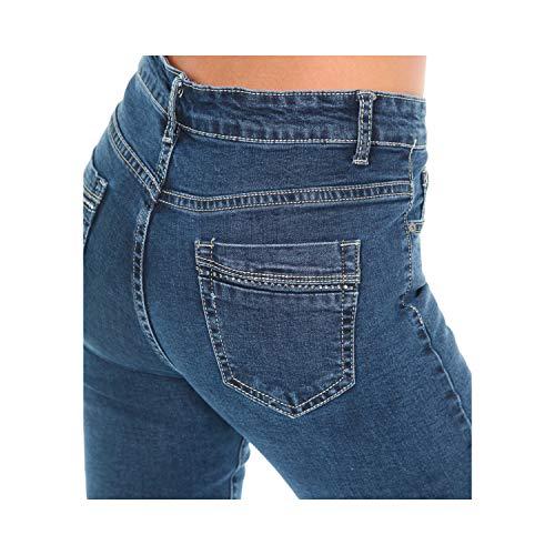 Pantaloni Tasche Strass 5 Slim Taglie Jeans Blu Fit Da Denim Oversize Con Su Donna YqSYTRwx