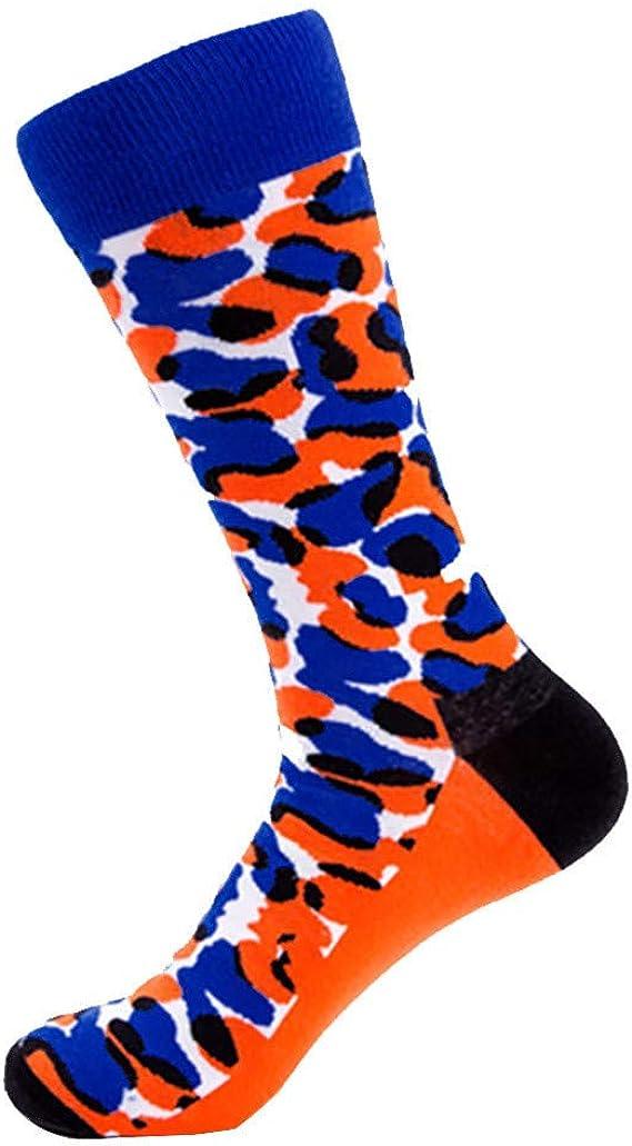 YWLINK Calcetines Medianos De AlgodóN Mujer Calcetines Deportivos De Leopardo Calcetines CáLidos De OtoñO E Invierno Antideslizante Transpirable Comodo Azul: Amazon.es: Ropa y accesorios