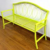 GCD-Austram Patio Bench, 56-Inch, Lime Green