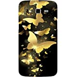Casotec Golden Butterfly Pattern Design Hard Back Case Cover for Samsung Galaxy Grand 2 G7102 / G7105