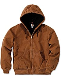 Men's Quilted Flannel Lined Sandstone Active Jacket J130