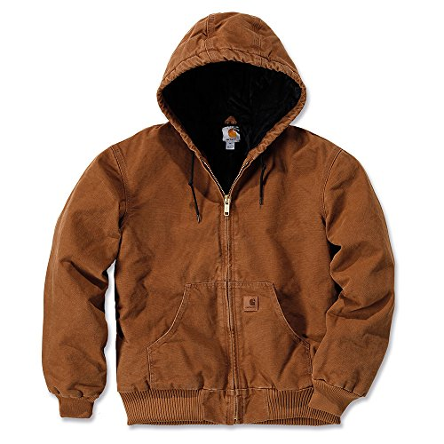 Carhartt Men's Quilted Flannel Lined Sandstone Active Jacket J130,Carhartt Brown,Large -