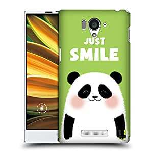 Head Case Designs Just Smile Happy Animals Protective Snap-on Hard Back Case Cover for Sharp Aquos Serie SHL25 LTE