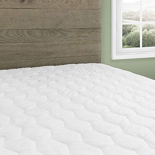 Beautyrest Cotton Top Mattress Pad Simmons Soft Cover Protector with Premium Fibers Expand-a-Grip Skirt Fits up to 15 (Full)