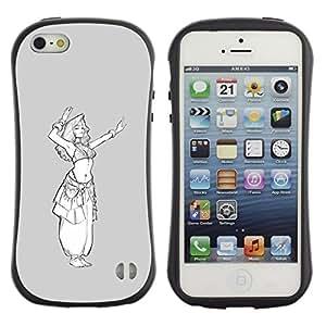 Suave TPU GEL Carcasa Funda Silicona Blando Estuche Caso de protección (para) Apple Iphone 5 / 5S / CECELL Phone case / / grey white princess sketch white girl /
