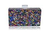 Vintage Confetti Acrylic Box Clutch-Milanblocks