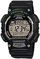 Casio STLS100H-1AV sport watch - Reloj deportivo (51.4 x 45.4 x 12.7, 40.3, Black, Grey, Built-in, Resin, Resin)