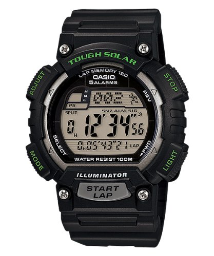 Casio Men's STL-S100H-1AVCF Tough Solar Runner Black Watch Casio