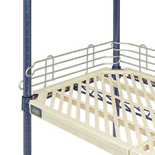 Nexel Ledge For Plastic Mat Shelf, Clear Epoxy Finish, 72