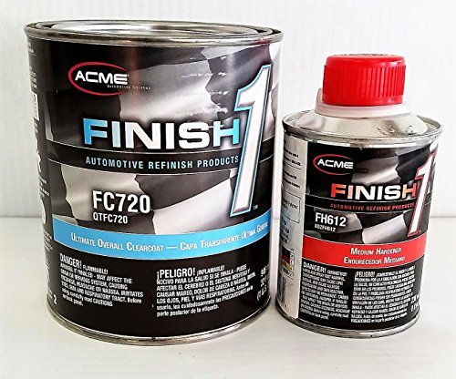 - FC 720 Quart Kit W/FH 612 Hardener a Sherwin Williams Finish1 Urethane Clear Coat Restoration Auto Paint
