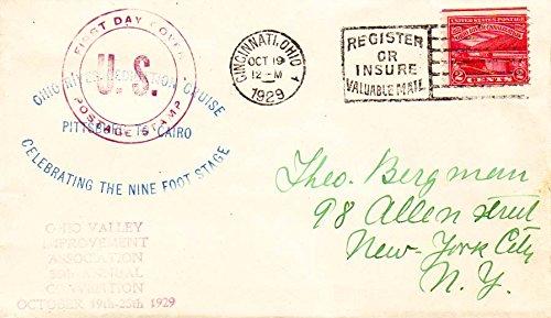 united-states-scott-681-2c-ohio-river-canal-1929-cincinnati-ohio-to-winfield-ny-planty-681-5-with-ad
