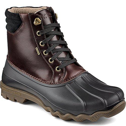 Sperry Top-Sider Men's Avenue Duck Blk Ameretto Rain Boot, B