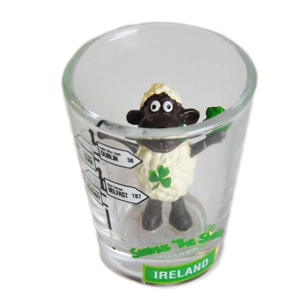 Seamus The Sheep Shot Glass With Irish Road Sign Design Carrolls Irish Gifts