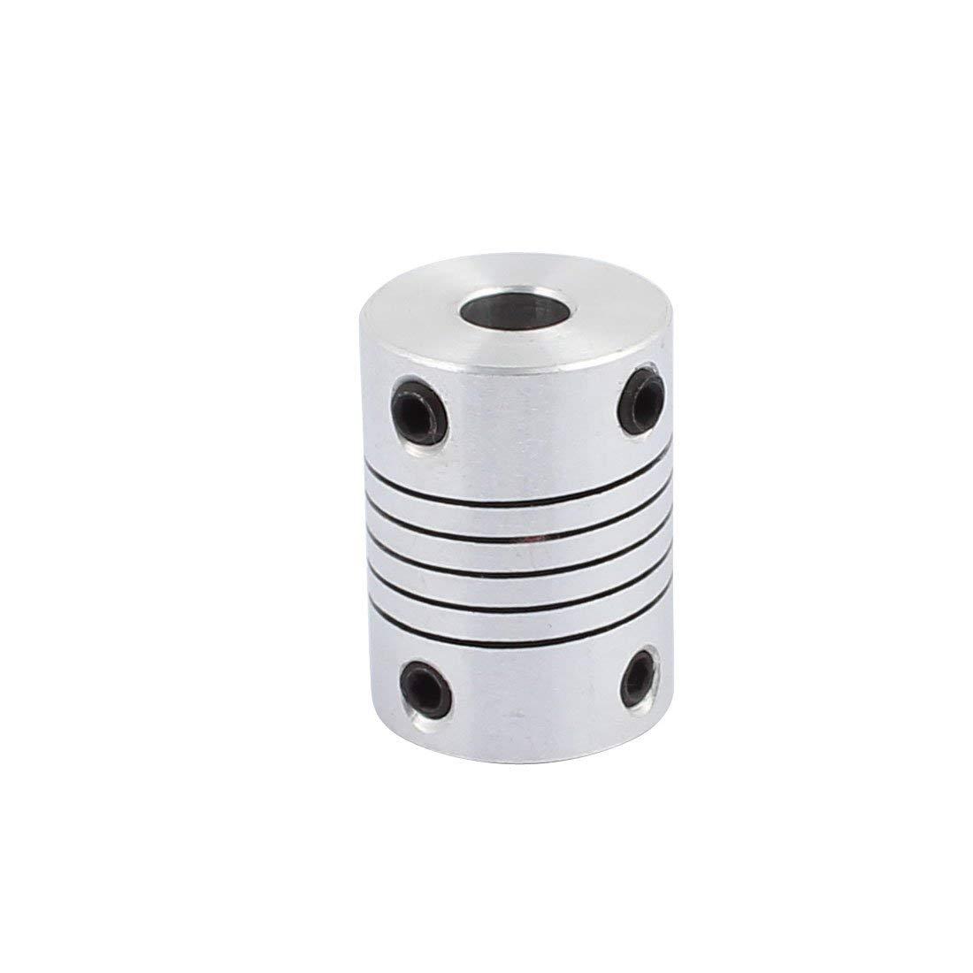 6.35mm to 6.35mm Shaft Coupling 25mm Length 18mm Diameter Stepper Motor Coupler Aluminum Alloy Connector for 3D Printer CNC Machine DIY Encoder