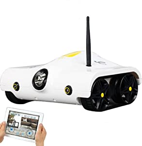 Science Purchase Spy RC Tank with Camera Support Infrared Controlled for iPhone, iPad, iPod Touch (White)