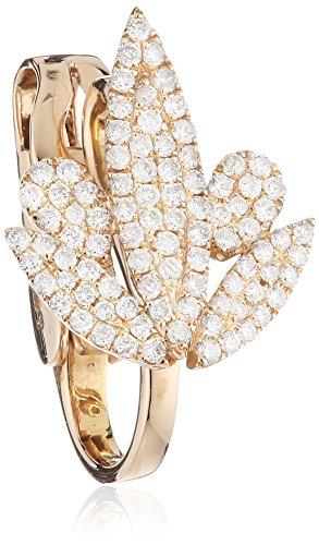 AS29 Boucles d'Oreilles Or Rose Ronde Diamant Transparent Femme