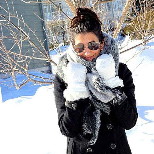 de Ropa Gruesos Lana Moda Calientes 65cm Suaves 200 x Bufandas LanTu Invierno Artificiales 0dqxw086