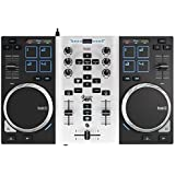DJ Hercules DJ Control Air S Series Party Pack - Controlador DJ [USB ultraportátil con salidas de audio, 8 pads y AIR Control + LED Party Light USB]