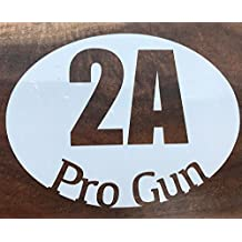 Amendment 2A Pro Gun Decal Bumper Sticker, for Laptops & Car Windows - Second Amendment Gun Decal