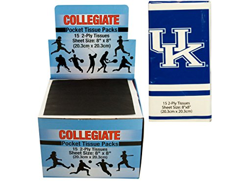 University Of Kentucky Pocket Tissues Countertop Display - Pack of 48 Kentucky Wildcats Tissue