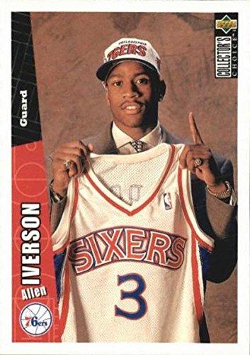 quality design 7506d 0e6c6 Allen Iverson Basketball Card (Philadelphia 76ers) 1996 ...
