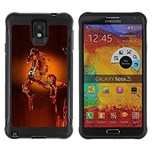 Suave TPU GEL Carcasa Funda Silicona Blando Estuche Caso de protección (para) Samsung Note 3 / CECELL Phone case / / Horse Wax Art Statue Animals Crown /
