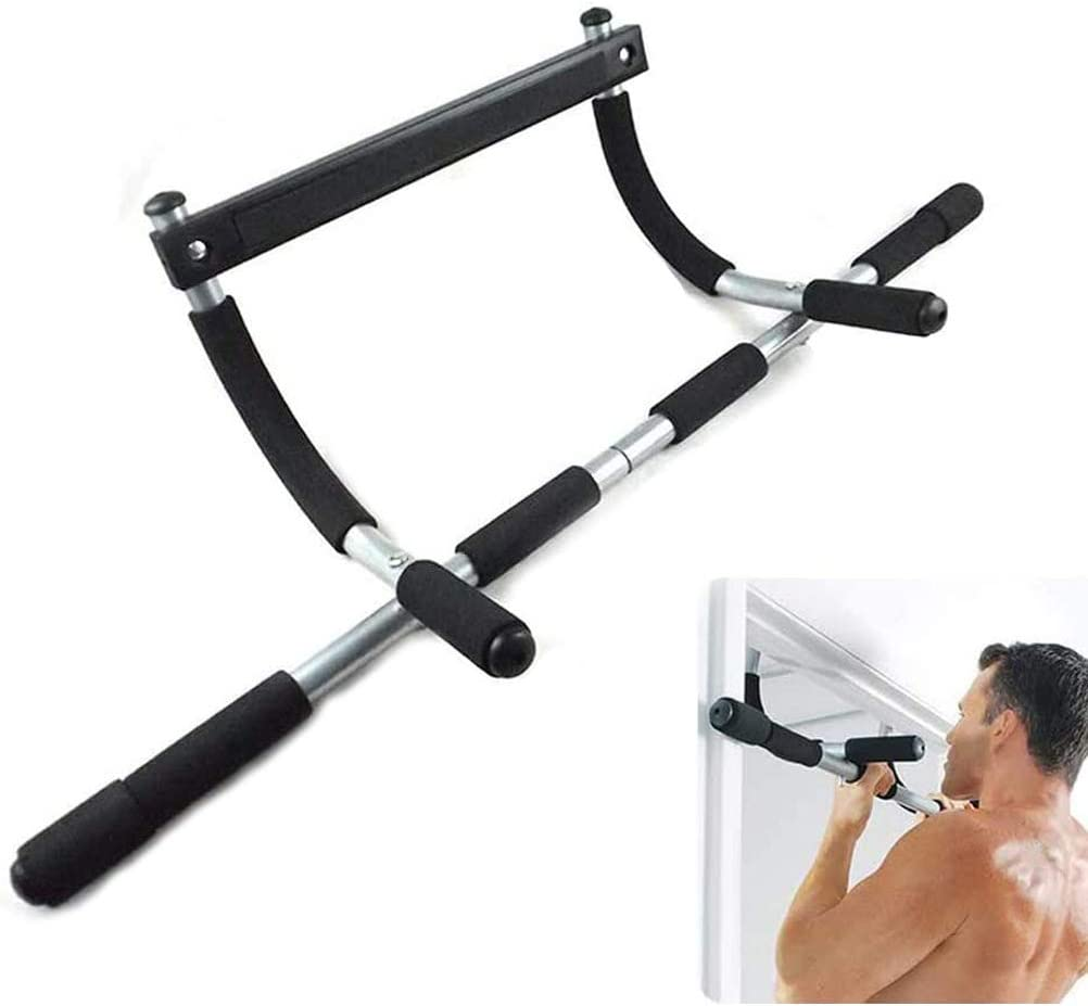 No Screws Easy Installation Bestice Pull Up Bar Doorway Pull Up Sit Up Door Bar Portable Chin-Up for Upper Body Workout Home Fitness