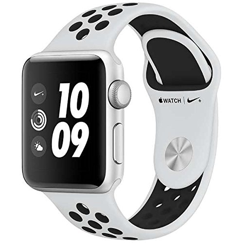 Apple Watch Nike+ Series 3 (GPS), 38mm Silver Aluminum Case with Pure Platinum/Black Nike Sport Band by Apple